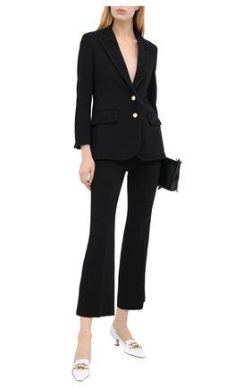 Женские брюки GUCCI черного цвета, арт. 610947/ZKR01 | Фото 2