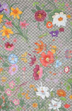 Женский платок из смеси шелка и шерсти GUCCI розового цвета, арт. 609318/3G165 | Фото 2