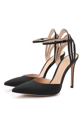 Женская текстильные туфли freesia d'orsay GIANVITO ROSSI черного цвета, арт. G95205.15RIC.CRWNER0 | Фото 1