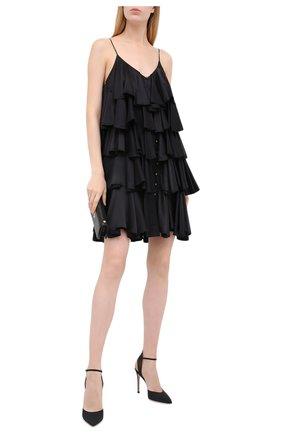 Женская текстильные туфли freesia d'orsay GIANVITO ROSSI черного цвета, арт. G95205.15RIC.CRWNER0 | Фото 2
