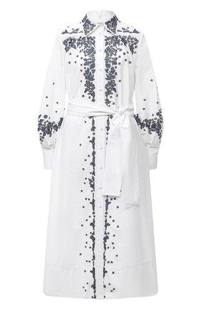 Женское хлопковое платье VALENTINO белого цвета, арт. UB3VASI55DN   Фото 1