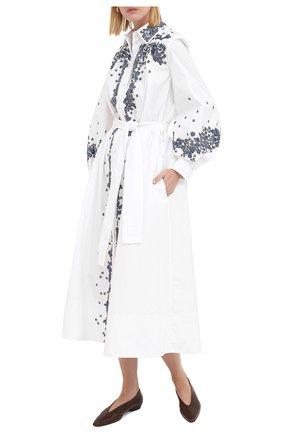 Женское хлопковое платье VALENTINO белого цвета, арт. UB3VASI55DN   Фото 2