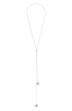 Женское колье BOTTEGA VENETA серебряного цвета, арт. 629263/V5070 | Фото 1
