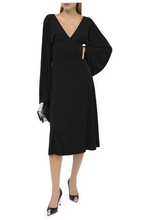 Женская кожаные туфли ALEXANDER MCQUEEN черного цвета, арт. 633504/WHV7B | Фото 2