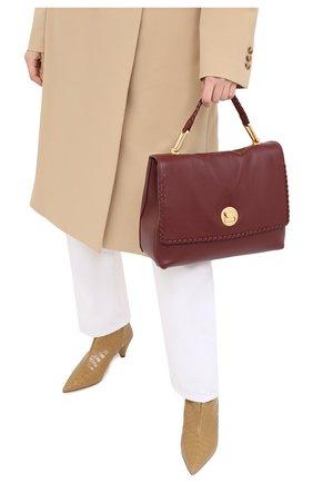 Женская сумка liya medium COCCINELLE бордового цвета, арт. E1 GD3 18 01 01 | Фото 2