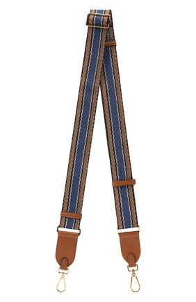 Женские ремень для сумки COCCINELLE синего цвета, арт. E3 GZ6 68 05 07 | Фото 1