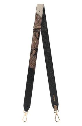 Женские ремень для сумки COCCINELLE черного цвета, арт. E3 GZ6 68 20 12 | Фото 1