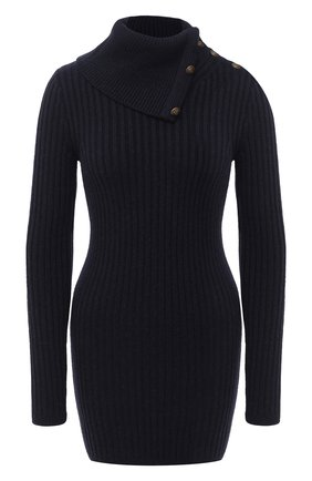Женское шерстяное платье SAINT LAURENT темно-синего цвета, арт. 631918/YAPP2 | Фото 1