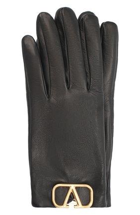 Женские кожаные перчатки VALENTINO черного цвета, арт. UW2GDA00/WJW | Фото 1
