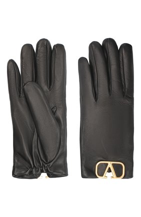 Женские кожаные перчатки VALENTINO черного цвета, арт. UW2GDA00/WJW | Фото 2