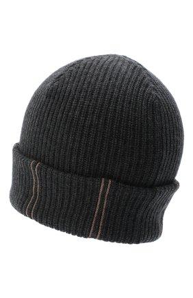 Женская кашемировая шапка BRUNELLO CUCINELLI темно-серого цвета, арт. M12717789 | Фото 2