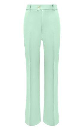 Женские брюки из шелка и шерсти GUCCI светло-зеленого цвета, арт. 632257/ZAD88 | Фото 1