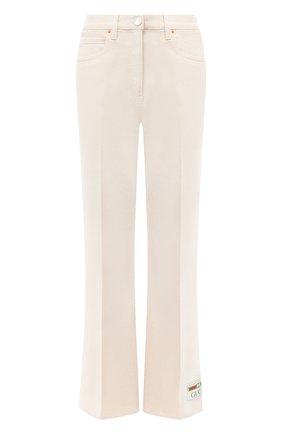 Женские джинсы GUCCI белого цвета, арт. 625087/XDA9V | Фото 1