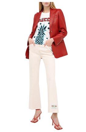 Женские джинсы GUCCI белого цвета, арт. 625087/XDA9V | Фото 2