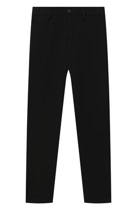 Детские брюки ALETTA черного цвета, арт. AMC000638N/4A-8A | Фото 1