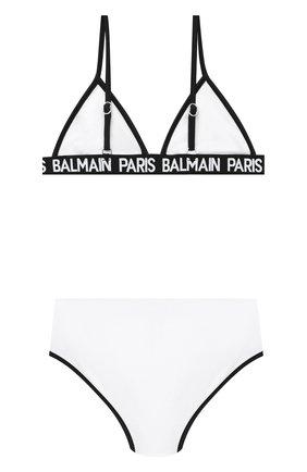 Детского раздельный купальник BALMAIN белого цвета, арт. 6N0129/NX360/4-10 | Фото 2