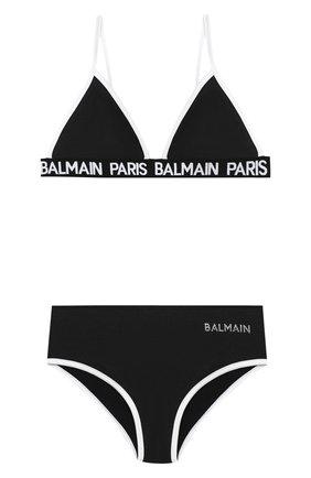 Детского раздельный купальник BALMAIN черного цвета, арт. 6N0129/NX360/4-10 | Фото 1
