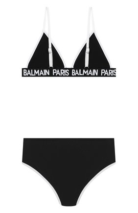 Детского раздельный купальник BALMAIN черного цвета, арт. 6N0129/NX360/4-10 | Фото 2