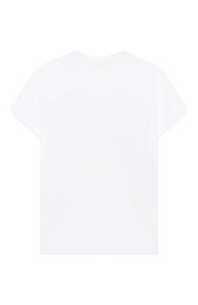 Детская хлопковая футболка EMILIO PUCCI белого цвета, арт. 9N8151/NC470/2-4 | Фото 2