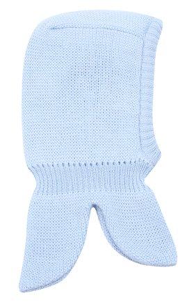 Детского шерстяная шапка-балаклава IL TRENINO голубого цвета, арт. 20 4065/E0 | Фото 2 (Материал: Шерсть)