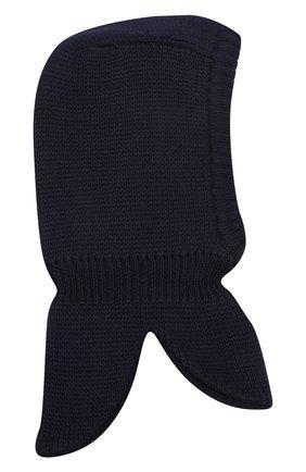Детского шерстяная шапка-балаклава IL TRENINO темно-синего цвета, арт. 20 4065/E3 | Фото 2