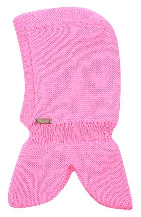 Детского шерстяная шапка-балаклава IL TRENINO розового цвета, арт. 20 4065/E3 | Фото 1