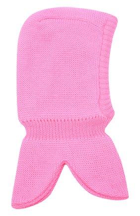 Детского шерстяная шапка-балаклава IL TRENINO розового цвета, арт. 20 4065/E3 | Фото 2