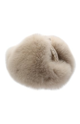 Детского меховая шапка-ушанка IL TRENINO бежевого цвета, арт. 20 4074/E0 | Фото 2