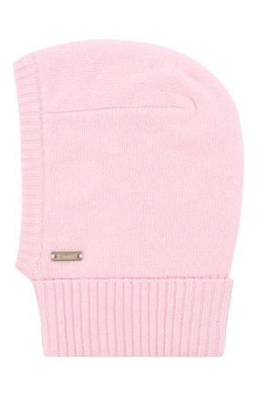 Детского шапка-балаклава IL TRENINO розового цвета, арт. 20 8222/E0 | Фото 1