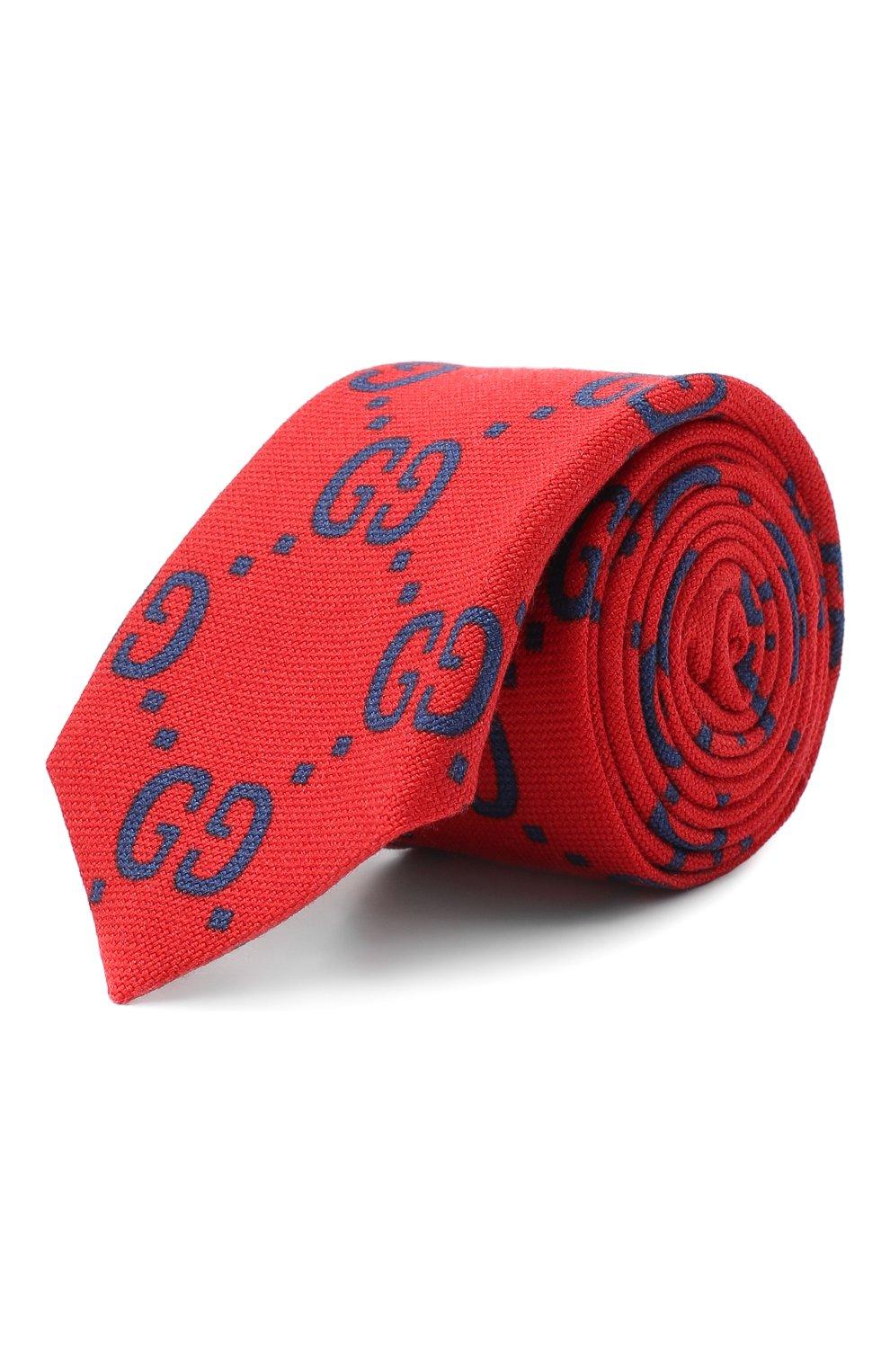Детский галстук из шерсти и шелка GUCCI красного цвета, арт. 529320/4K515 | Фото 1