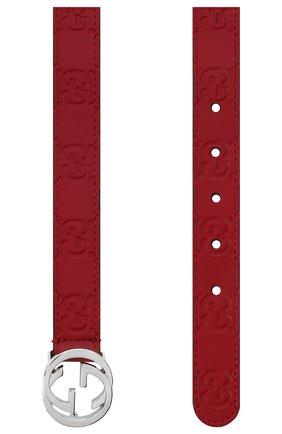 Детский кожаный ремень GUCCI красного цвета, арт. 258395/C0C0N | Фото 2