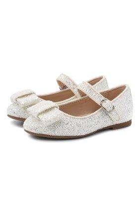 Детские туфли AGE OF INNOCENCE белого цвета, арт. ELLEN GLITTER | Фото 1