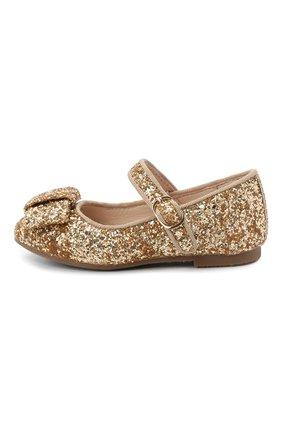 Детские туфли AGE OF INNOCENCE золотого цвета, арт. ELLEN GLITTER | Фото 2