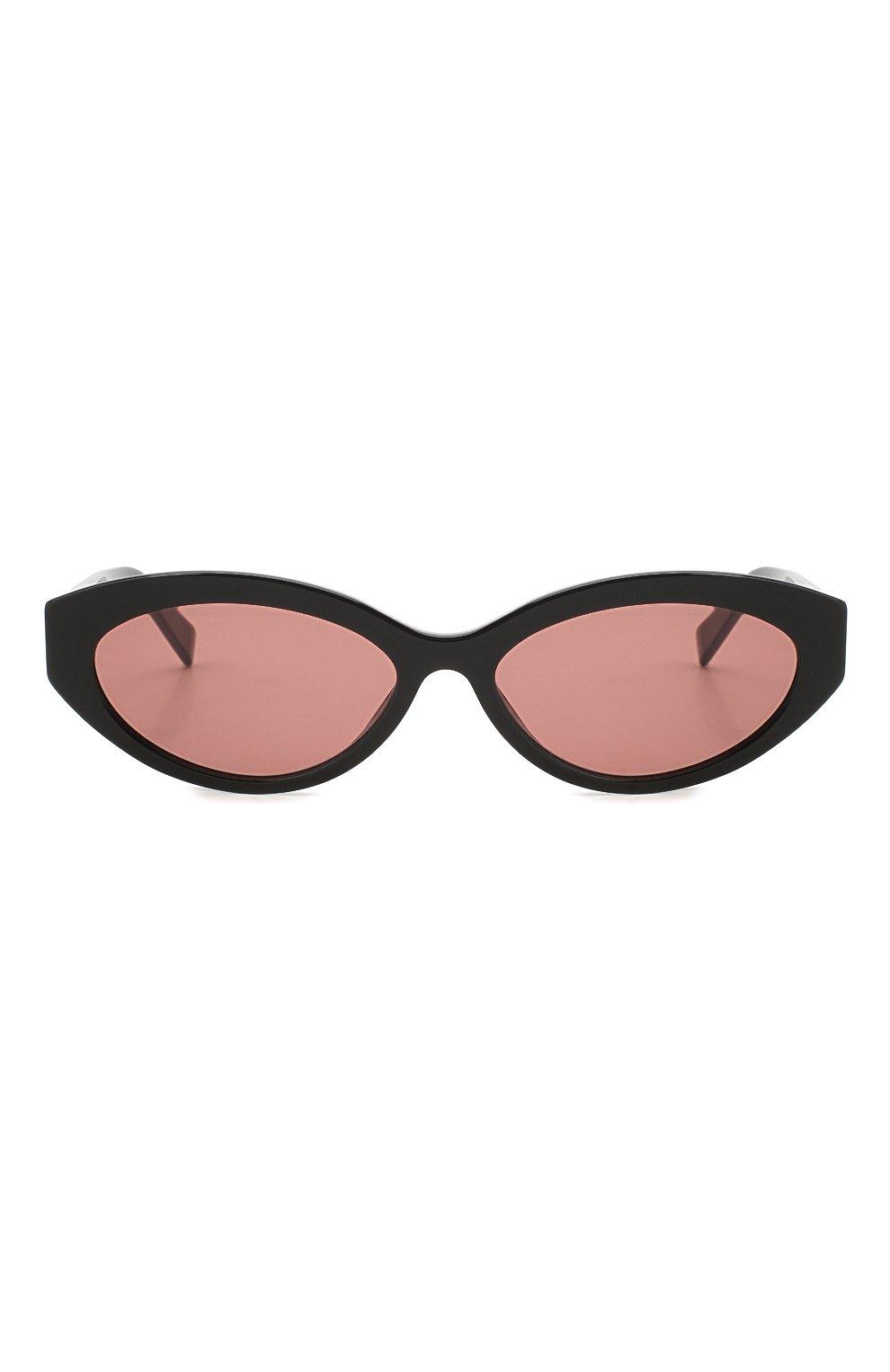 Женские солнцезащитные очки MAX MARA черного цвета, арт. SLIM I 807 | Фото 3