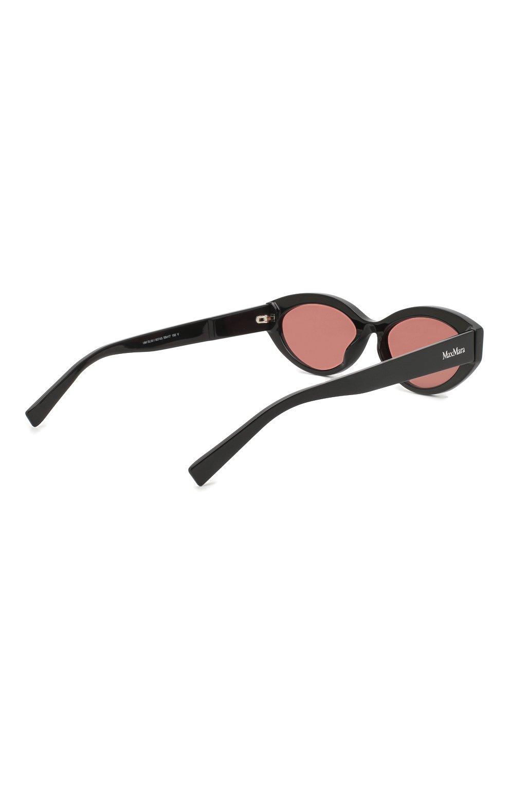 Женские солнцезащитные очки MAX MARA черного цвета, арт. SLIM I 807 | Фото 4
