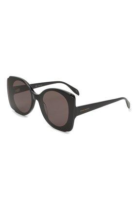 Женские солнцезащитные очки ALEXANDER MCQUEEN черного цвета, арт. AM0250S 001 | Фото 1
