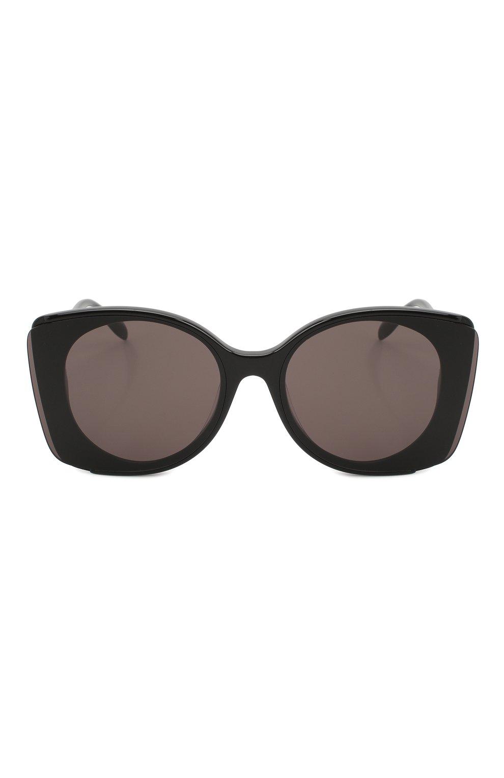 Женские солнцезащитные очки ALEXANDER MCQUEEN черного цвета, арт. AM0250S 001 | Фото 3