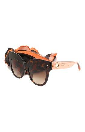 Мужские солнцезащитные очки и платок LINDA FARROW коричневого цвета, арт. LFL1049C5 SUN | Фото 1