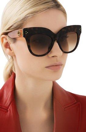 Мужские солнцезащитные очки и платок LINDA FARROW коричневого цвета, арт. LFL1049C5 SUN | Фото 2