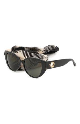Мужские солнцезащитные очки и платок LINDA FARROW черного цвета, арт. LFL986C1 SUN | Фото 1