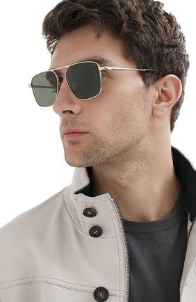 Мужские солнцезащитные очки GUCCI зеленого цвета, арт. GG0743S 004 | Фото 2
