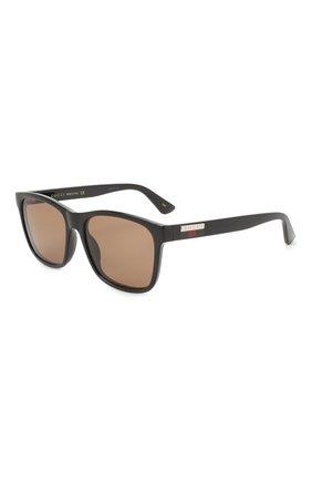 Мужские солнцезащитные очки GUCCI коричневого цвета, арт. GG0746S 002 | Фото 1