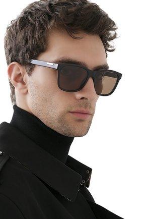 Мужские солнцезащитные очки GUCCI коричневого цвета, арт. GG0746S 002 | Фото 2