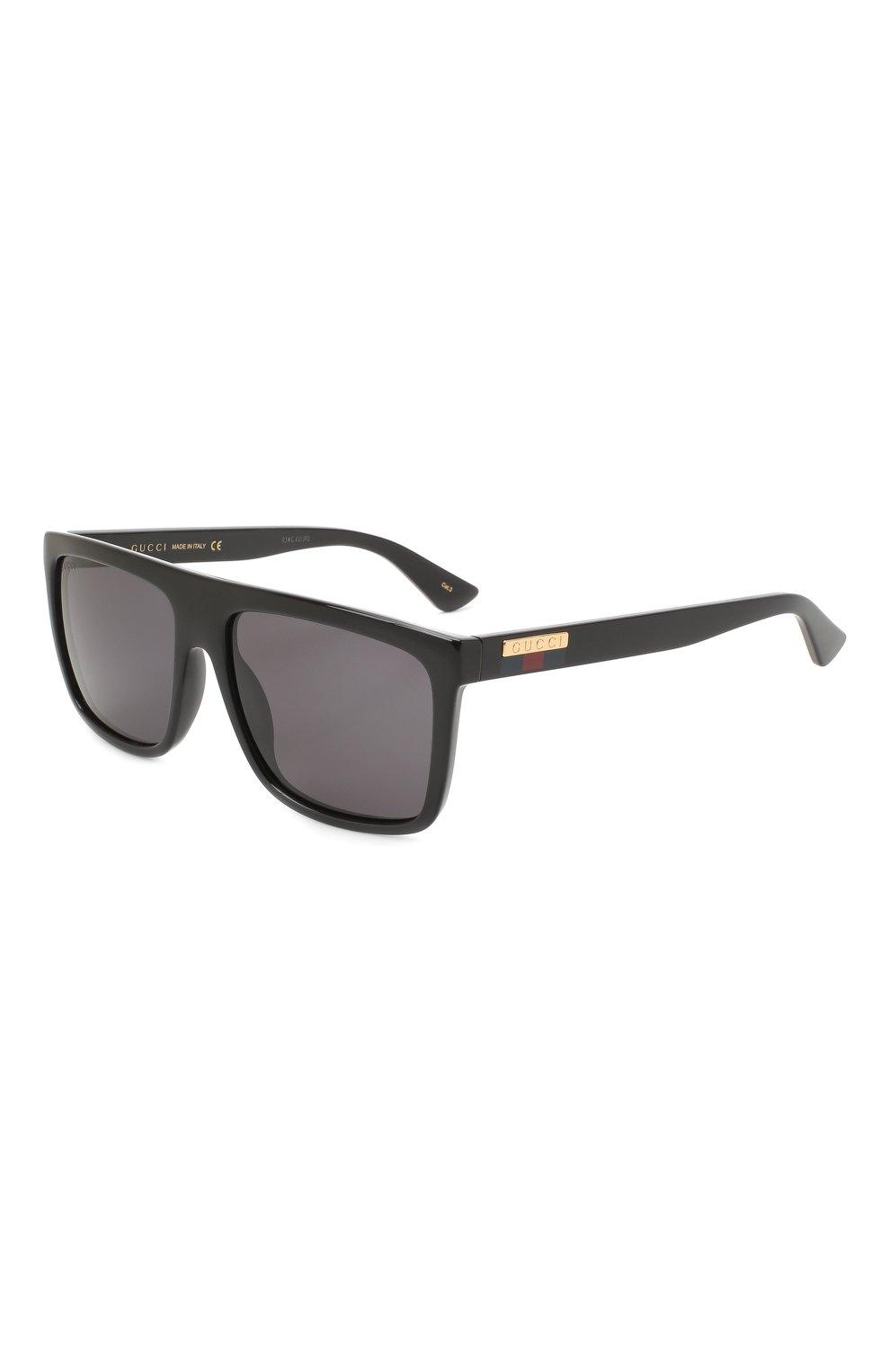 Мужские солнцезащитные очки GUCCI черного цвета, арт. GG0748S 001   Фото 1