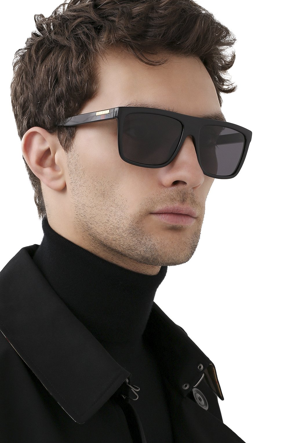 Мужские солнцезащитные очки GUCCI черного цвета, арт. GG0748S 001   Фото 2