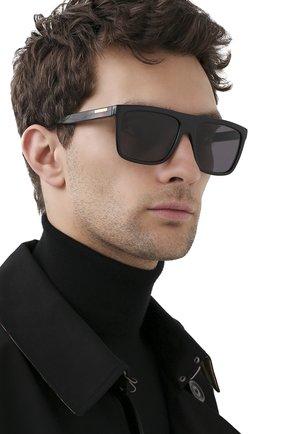 Мужские солнцезащитные очки GUCCI черного цвета, арт. GG0748S 001 | Фото 2