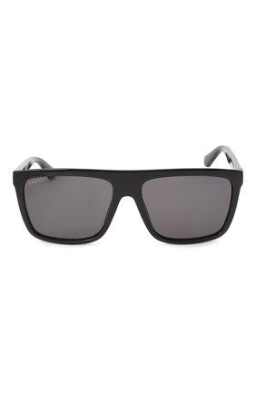 Мужские солнцезащитные очки GUCCI черного цвета, арт. GG0748S 001   Фото 3