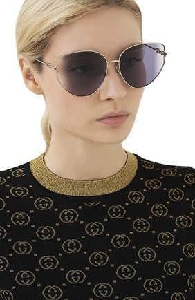 Женские солнцезащитные очки DIOR фиолетового цвета, арт. DI0RGIPSY1 000 S0 | Фото 2