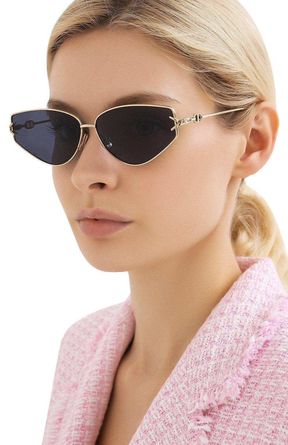 Женские солнцезащитные очки DIOR синего цвета, арт. DI0RGIPSY2 J5G | Фото 2