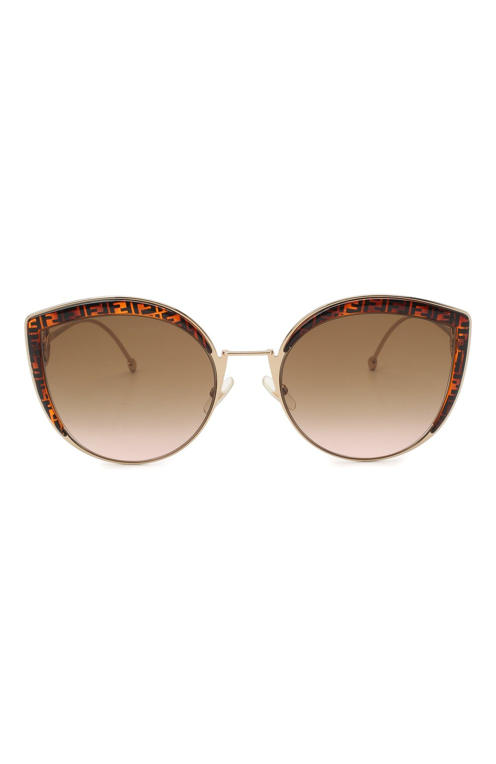 Женские солнцезащитные очки FENDI коричневого цвета, арт. 0290 VH8 | Фото 3